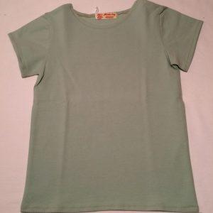 T-shirt-mintgroen-med-korte-aermer-bomuld-elastan-14832