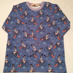Bluse-med-cykeldamer-dueblaa-french-terry-isoli-bomuld-elastan-14975