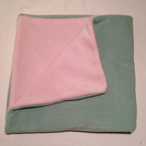 Polarfleece-groen-rosa-babytaeppe-ca.-75x75-cm-14909