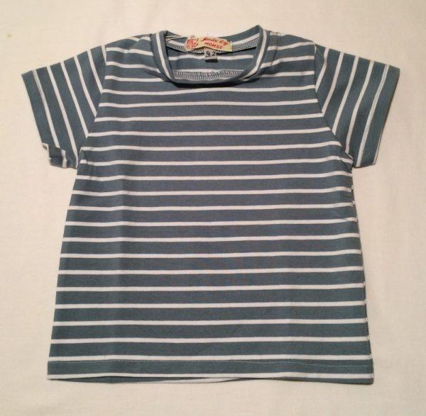 T-shirt-lyseblaa-hvid-oekologisk-bomuld-elastan-14848