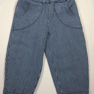 Mælkedrenge bukser med stræk - blåhvid strib - bomuld-elastan