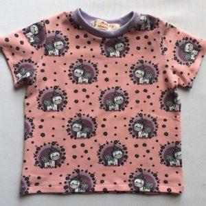 Baby t-shirt med baby enhjørning - oeko-tex - bomulad-elastan
