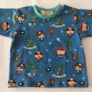 Pirat-T-shirt-med-korte-aermer-oeko-tex-bomuld-elastan