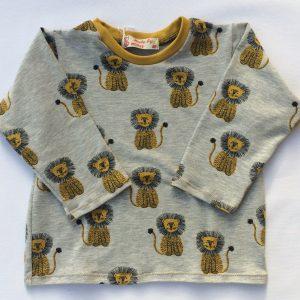 T-shirt-med-lange-aermer-med-loever-graameleret-oeko-tex-bomuld-elastan
