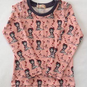 T-shirt-med-piger-og-hjerter-lange-aermer-oeko-tex-bomuld-elastan