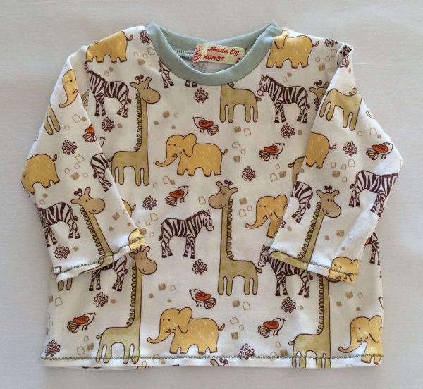 Bluse-off-white-med-safari-dyr-oeko-tex-bomuld-elastan