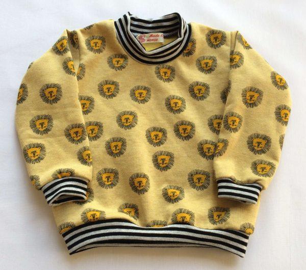 Sweatshirt-med-lange-aarmer-carrygul-med-loever-oeko-tex-bomuld-polyester