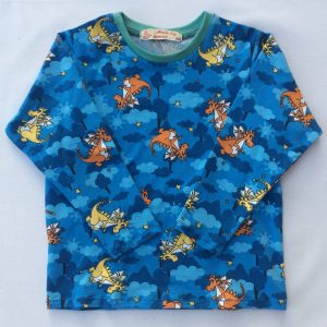 T-shirt-med-drager-blaa-oeko-tex-bomuld-elastan