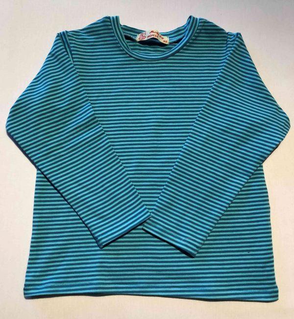 Bluse-med-turkis-striber-oeko-tex-bomuld-95-proc.-elastan-5-proc.