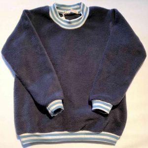 Fleece-troeje-marineblaa-100-proc.-bomuld-rib-bomuld-elastan