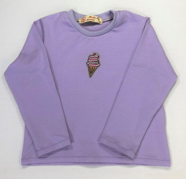 Langærmet-t-shirt-med-vaffelis-lys-lilla-oeko-tex-bomuld-elastan