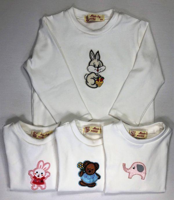 Langaermet-off-white-t-shirt-med-applikation-oeko-tex-92-proc.-bomuld-8-proc.-elastan
