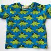 T-shirt -turkis-med-lysegroenne-dinos-bomuld-elastan