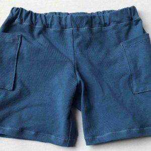 Shorts-soeblaa-med-sidelommer-oeko-tex-bomuld-elastan