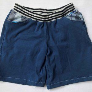 Shorts-moerkeblaa-med-forlommer-og-sadleback-oeko-tek-95-proc.-bomuld-5-proc.elastan
