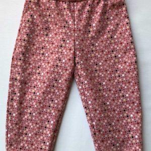 Hyggebuks -pink-med-stjernenat-oeko-tex-95-5-bomuld-elastan