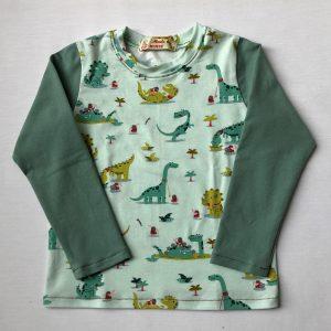 Mintgroe-t-shirt-med-dinos-oeko-tex-bomuld-elastan