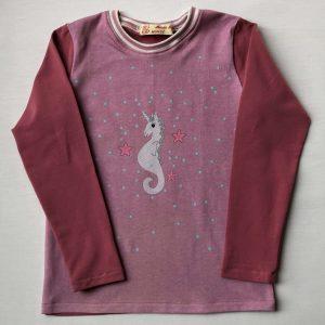 T-shirt-pink-med-eenhjørningfront-oeko-tex-bomuld-elastan