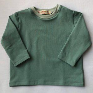 Bluse-langaermet-stoevgroen-oeko-tex-95-proc.-bomuld-5 -proc.-elastan