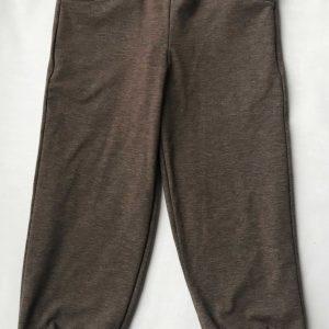 Jerseybuks-brun-med-skildpaddeprint- v.-lommer-bomuld-elastan-95-5