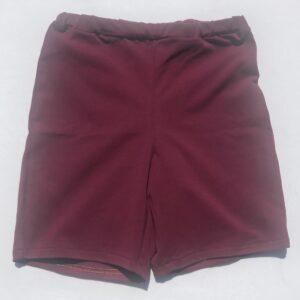 Shorts-bordeaux-ensfarvet-oeko-tex-bomuld-elastan-92-8
